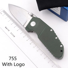 JUFULE Made 755 Titanium G10 handle D2 Mark M390 Blade folding Pocket Survival EDC Tool hunt Utility outdoor camping knife