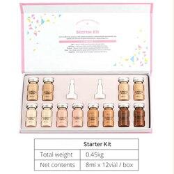 12 шт 8 мл бренд Derma белый BB крем светящаяся сыворотка ампулы добавить основу niacinamide/пептид для эффективного осветления против старения