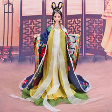 Traditional Chinese Dolls Girls Toy Ancient Collectible Beautiful Vintage Style Princess Ethnic Doll with Dress Gifts