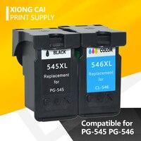Cartucho de tinta PG545 CL546 compatible para canon pixma IP2850/MX495/MG2950/MG2550/MG2450  cartucho de tinta completo para canon PG 545 CL546