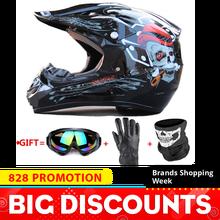 цена на Motorcycle Helmet Full Face Helmet Moto Casco Motocross Helmet Motor Kask Capacete Da Motocicleta Racing Capacete Moto Glasses