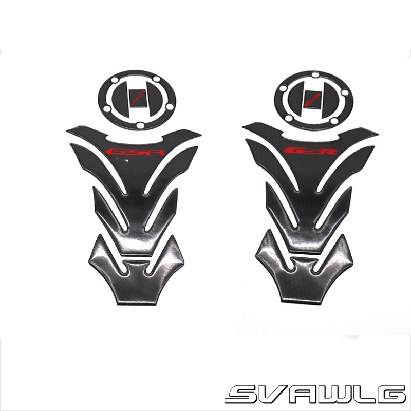 Tanque de combustível para motocicleta, decalque de tanque para suzuki gsr400 gsr600 gsr750 gsr 400 600 750 adesivo