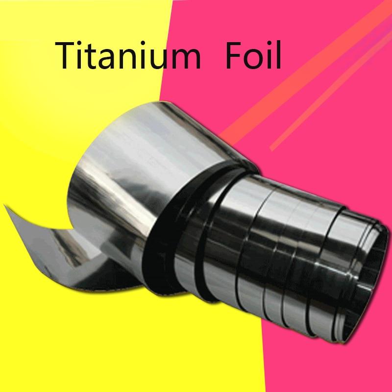 Titanium Strip Ti Foil Thin Sheet Industry Corrosion Resistance Medical Titanium Aerospace Machining 0.1-0.5mm DIY Material