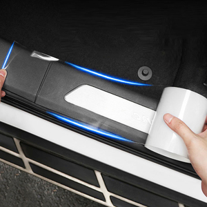 Universal Car Anti Collision Side Door Edge Guard Door Sill Scuff Plate Protection Sticker Strip Transparent door sill strip