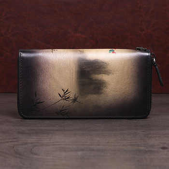 New Wallet Stylish Handbag Siphoned Bag Vintage Zipper Handbag