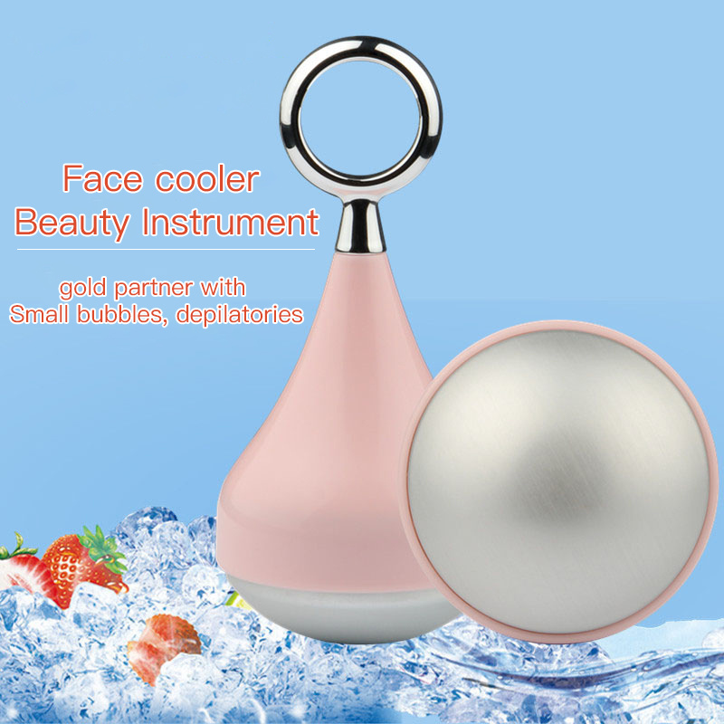 Beauty Anti Aging Face Massager Ice Globes Face Roller Cooling Ice Balls Ion Massage Skin Care Device
