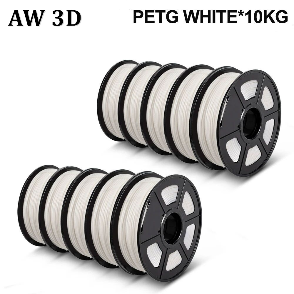 AW 3D PETG Filament 10 Rolls 3D Printer petg filament 10kg 1 75mm Diameter Tolerance 0