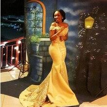 Prom-Dress Evening-Dresses Satin Dubai Arabic Mermaid Yellow Appliques-Beads Muslim Saudi