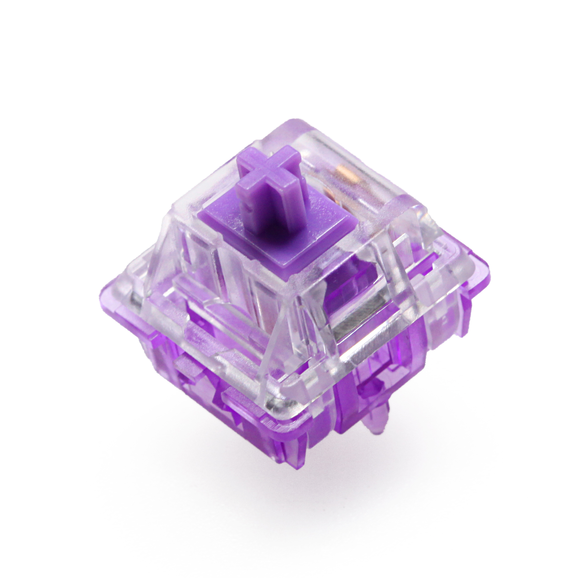 EVERGLIDE SWITCH Crystal Purple Mx Stem With Purple Mx Stem For Mechanical Keyboard 5pin 45g Tactile Similar To Holy Panda