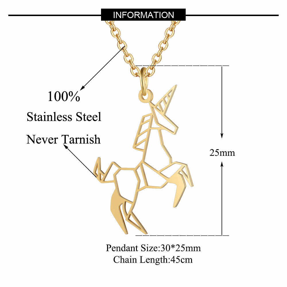 Flying Unicorn Necklace LaVixMia Italy Design 100% Stainless Steel Necklaces for Women Super Fashion Jewelry Special Gift