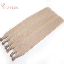 Yesowo предварительно скрепленные Remy i Tip кератиновые накладные 0,8 г/прядь 40 г 60# малазийские прямые человеческие волосы