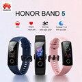 100% Оригинальный Смарт-браслет Huawei Honor Band 5  пульсоксиметр  волшебный цветной сенсорный экран  пульсометр