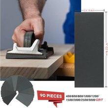 90pcs Assorted Grind Sandpaper 400 600 800 1000 1200 1500 2000 2500 3000 Grit Polishing Sanding Wet/dry Abrasive Set