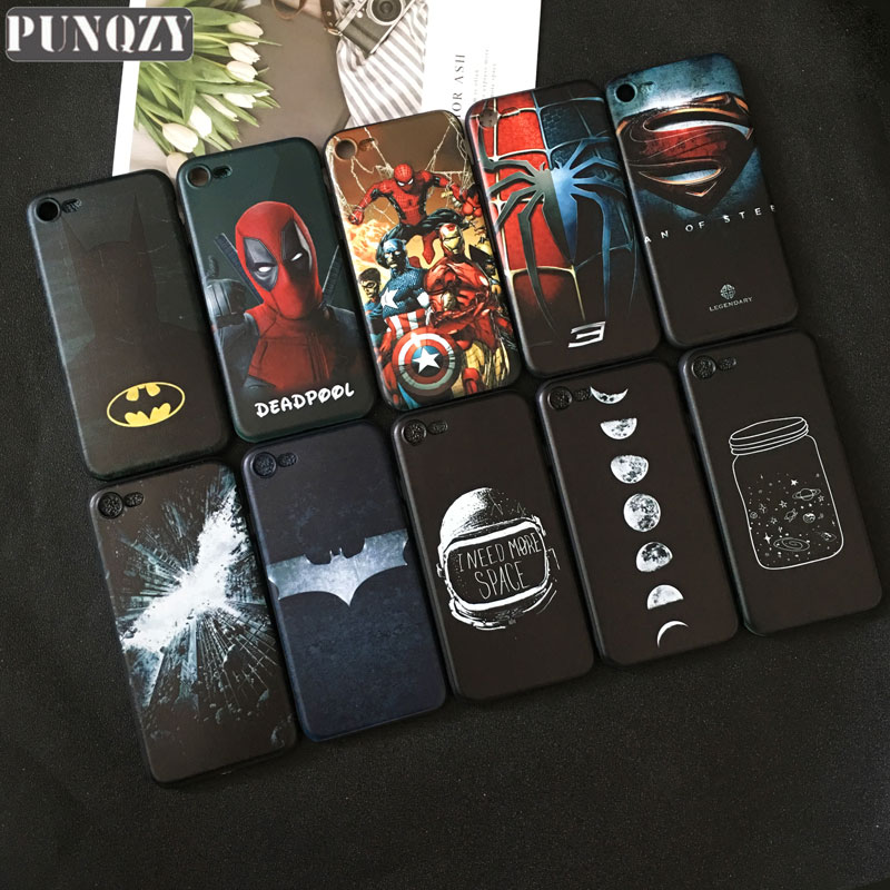 Cool movie Deadpool Iron Man Spiderman phone Case For iPhone 6s 7 8 Plus 5s se X SR XS MAX Male the Joker Batman Soft TPU cover image