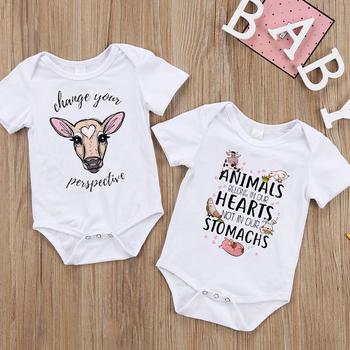 2020 nowe letnie chłopięce Romper w zwierzęcym stylu z krótkim rękawem pajacyki dziecięce kombinezon śpioszki dla niemowląt noworodka ubrania dla dzieci tanie i dobre opinie Poliester spandex Moda Cartoon O-neck Body Unisex