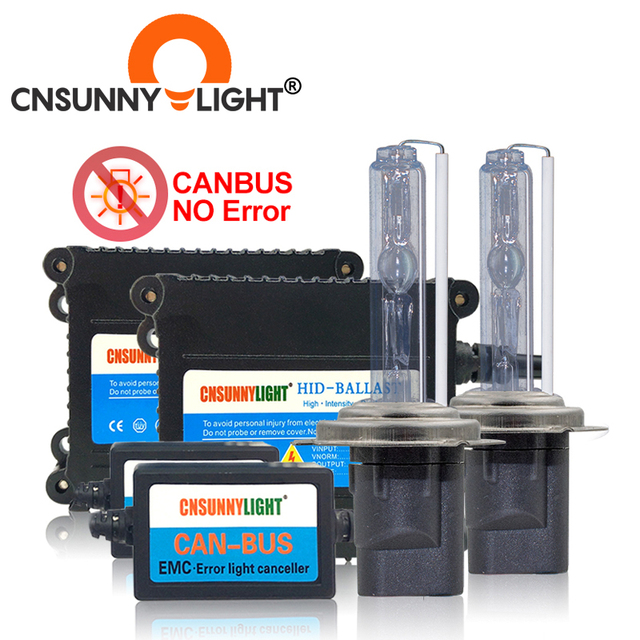 CNSUNNYLIGHT Super Slim High Quality Canbus 35W HID Xenon Kit H1 H3 H7 H8 H10 H11 9005 9006 880 Car Error Warning Free with EMC
