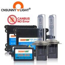 CNSUNNYLIGHT Super Sottile di Alta Qualità Canbus 35W HA NASCOSTO il Corredo del Xeno H1 H3 H7 H8 H10 H11 9005 9006 880 avviso di Errore auto Libero con EMC