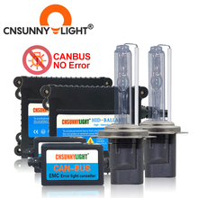 Cnsunnylight super fino de alta qualidade canbus 35w hid xenon kit h1 h3 h7 h8 h10 h11 9005 9006 880 aviso erro do carro livre com emc
