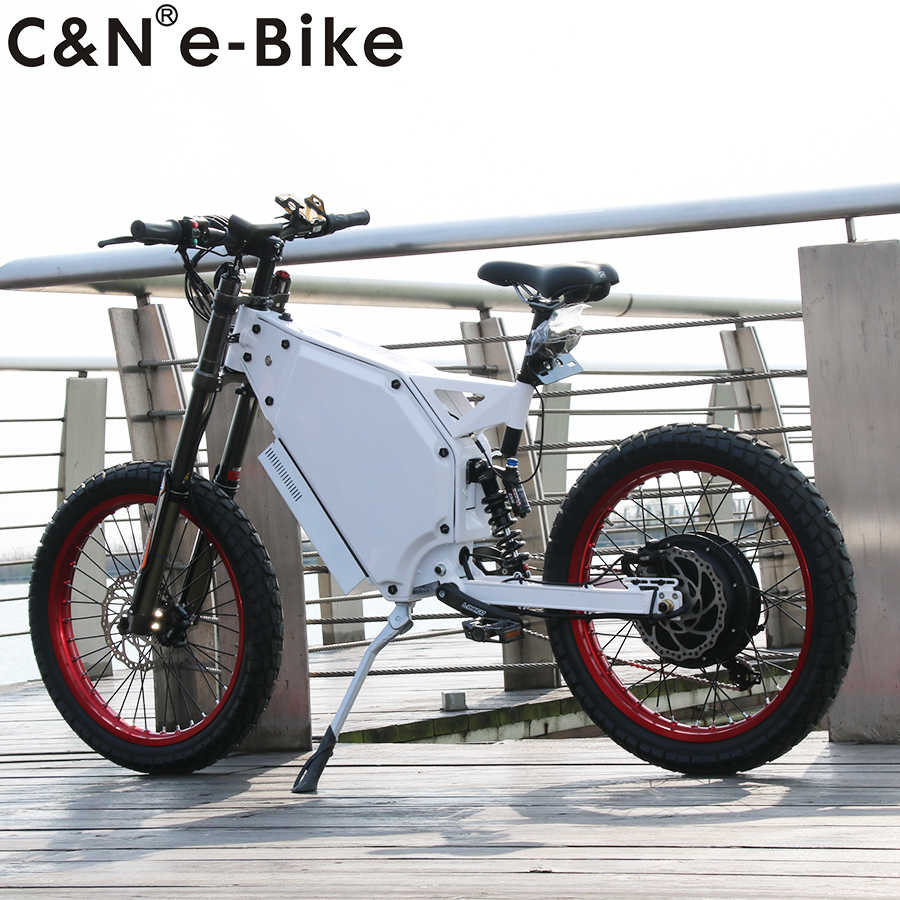 Long Range 72v 5000w Electric Mountain Bike Bicycle Enduro Ebike Promotion sale with big 48ah battery