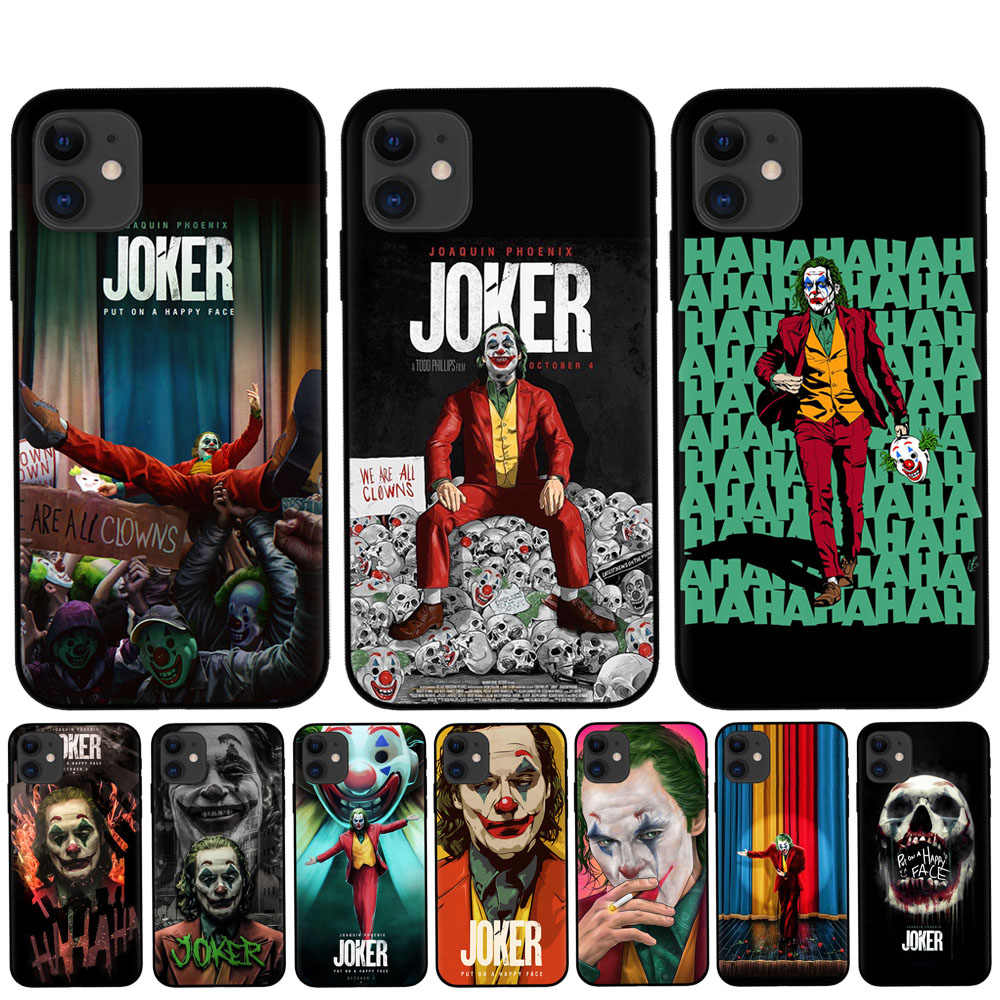 Ruixkj para coque iphone xr x xs 11 pro max caso engraçado coringa 2019 para funda iphone 8 7 6 s plus 5S se capa para iphone xr casos