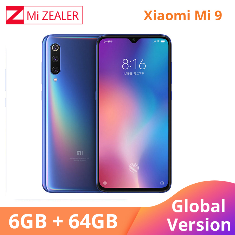Global Version Xiaomi Mi 9 Mi9 Mobile Phone 6.39 Inch 6GB RAM 64GB ROM Snapdragon 855 Octa Core 48MP+16MP+12MP Triple Cameras