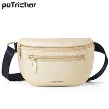 Pochete feminina, bolsa de ombro e peito luxuosa, multifuncional, feminina, de cintura alta bolsa para mulheres