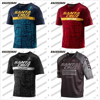 Koszulka kolarska odzież koszulka Motocross Maillot Ciclismo szybkie suche koszule męskie koszulka MTB koszulka męska z krótkim rękawem koszulka na rower tanie i dobre opinie Poliester Wiosna summer AUTUMN Nie zamek Pasuje prawda na wymiar weź swój normalny rozmiar Dzianiny Anty-pilling Anti-shrink