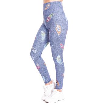Piórko naśladować dżinsy legginsy z nadrukami Push Up modne spodnie wysokiej talii trening Jogging dla kobiet Athleisure legginsy treningowe tanie i dobre opinie Zohra Kostek CN (pochodzenie) REGULAR HIGH SEAM Spandex(10 -20 ) STANDARD Z dzianiny WOMEN STREETWEAR POLIESTER Drukuj Dla osób w wieku 18-35 lat