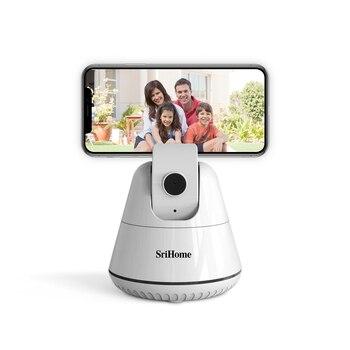 Sricam SH006 Smartphone Selfie Shooting Gimbal 360° Face Object Follow Up Stick Auto-tracking Smart Capture Phone Holder - discount item  40% OFF Video Surveillance