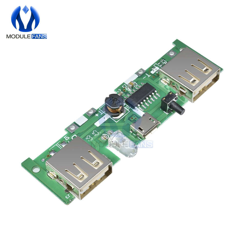 5V 1A 2A Mobile Power Bank Charger Control Module Micro USB Polymer Lithium Battery Charging Board DIY Step Up Boost