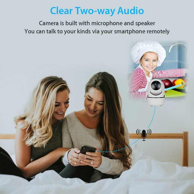 Mini Baby Monitorกล้องIPการติดตามอัตโนมัติHD 1080Pในร่มบ้านไร้สายWifi Security CCTVกล้องIp cam
