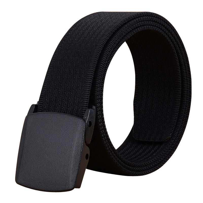 No Metal Men Belt Solid Color Canvas Automatic Buckle Men's Belt Outdoor Casual Business Pants Wild Belt Canvas Belt Waist Belt
