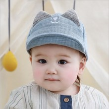 Cute Baby Boy Girl Autumn Winter Home Outdoor Hat Cotton Soft Warm Kid Lovely Small Ear Smile