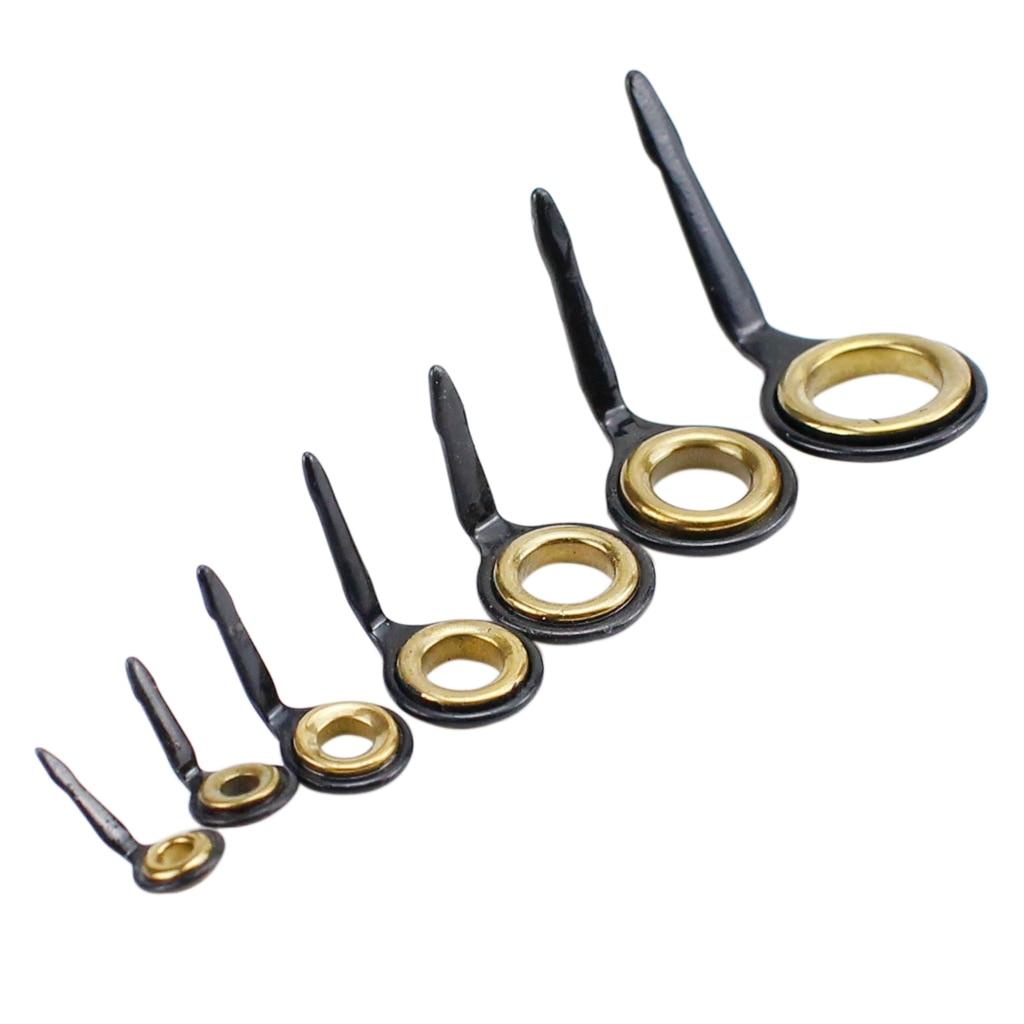10 шт., направляющие для удочек из нержавеющей стали, кольцевой наконечник для удочки, Ремонтный комплект 3#4#5#6#7#8#10# комплект рыболовных принадлежностей