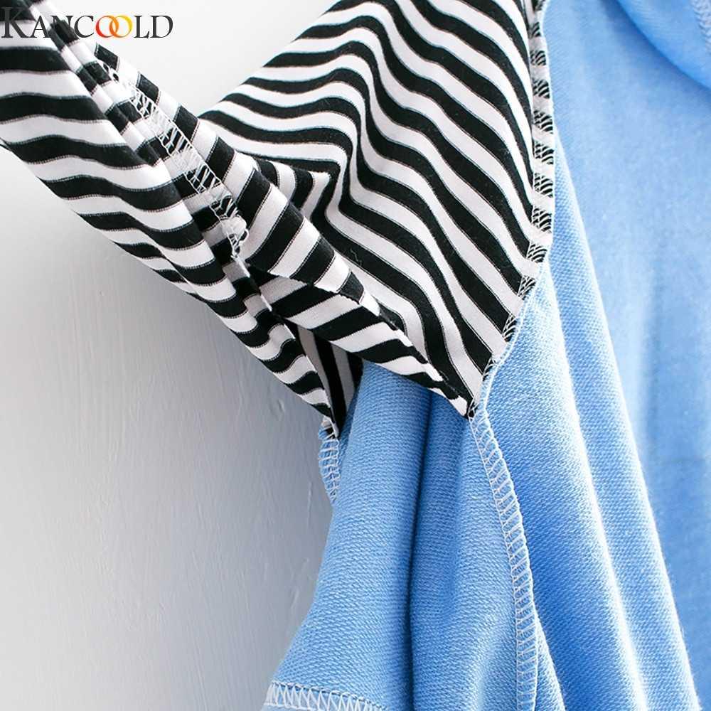 KANCOOLD ผู้หญิงเสื้อกันหนาว Hooded แขนยาว Patchwork เสื้อเสื้อเสื้อกันหนาวเกาหลีสไตล์สีดำสีขาว #1