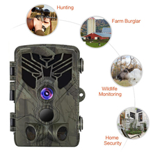 64GB Trail Camera-WiFi 20MP 1080P Wildlife Hunting Game Camera with Night Vision Motion Activated for Outdoor  Waterproof IP66