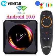 VONTAR Z5 스마트 TV 박스 안드로이드 10 4 기가 바이트 64 기가 바이트 Rockchip RK3318 USB3.0 1080P H.265 4K 미디어 플레이어 유튜브 안드로이드 TVBOX 셋톱 박스