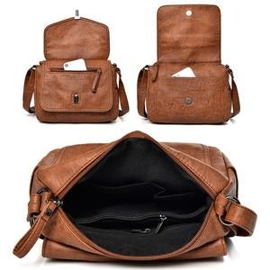 Image 5 - Two covers vintage women bag 2019 Soft leather luxury handbags women bags designer female small messenger Shoulder Bag Flap Sac