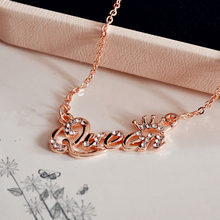 ZRM романтичные золотого цвета Королева цепь корона ожерелье из циркония девушка женские модные ювелирные изделия подарки на день рождения