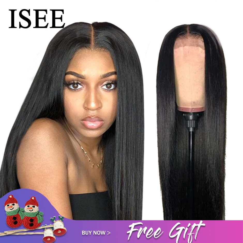 Permalink to -55%OFF ISEE HAIR Straight Lace Front Human Hair Wigs For Women 13X4 Lace Frontal Wig Malaysian Straight Lace Closure Wig 4X4 Lace Wig