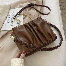 Модные складывающиеся дизайнерские сумки через плечо для женщин