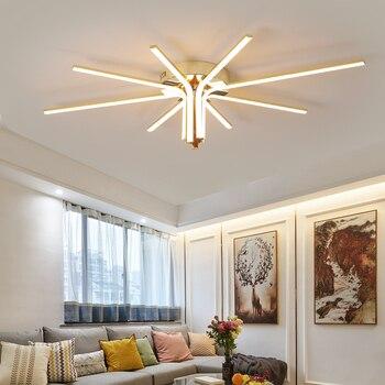 Chrome/Gold Plated led ceiling lights 90-260V New Modern led ceiling lamp lighting lamp for living room bedroom study room 1