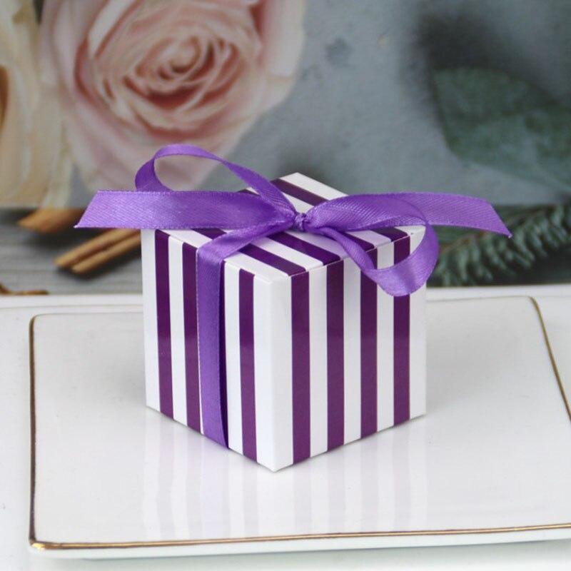 20 stücke Rosa Lila Rot Geschenk Verpackung Box Karton Cookies Craker Leckereien Box Verpackung für Party Geschenk Boxen mit Band