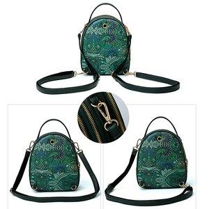 Image 4 - Fashion Cartoon Printing Women Handbag High Quality PU Leather Shoulder Bag Ladies 3 Deck Cartoon Pattern Back Pack For Teenager