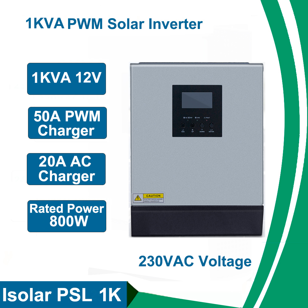 1kw 12v inversor solar onda senoidal pura 220v fora da grade inversor build in 50a pwm