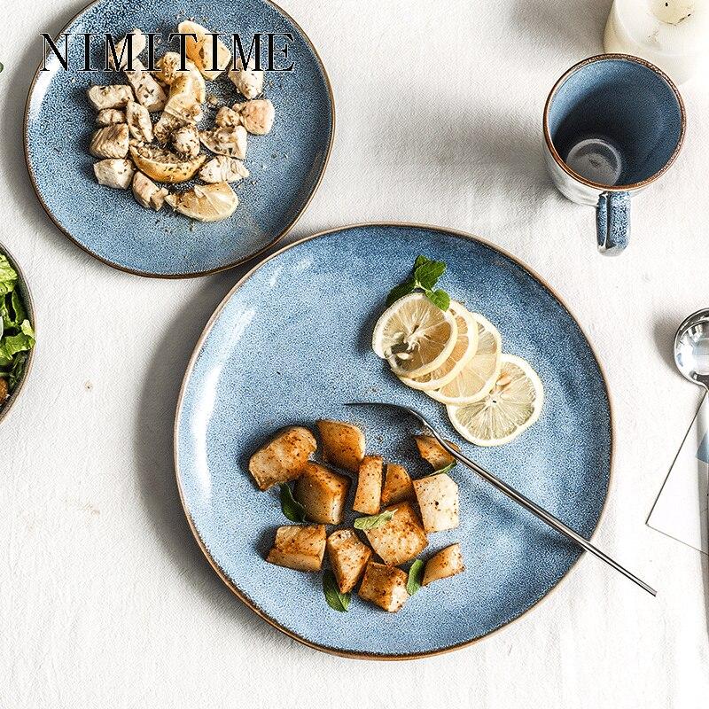 NIMITIME японский стиль керамическая тарелка миска для супа салатная тарелка для стейка тарелка для завтрака домашняя посуда|Столовые сервизы|   | АлиЭкспресс - Посуда для кухни с алиэкспресс