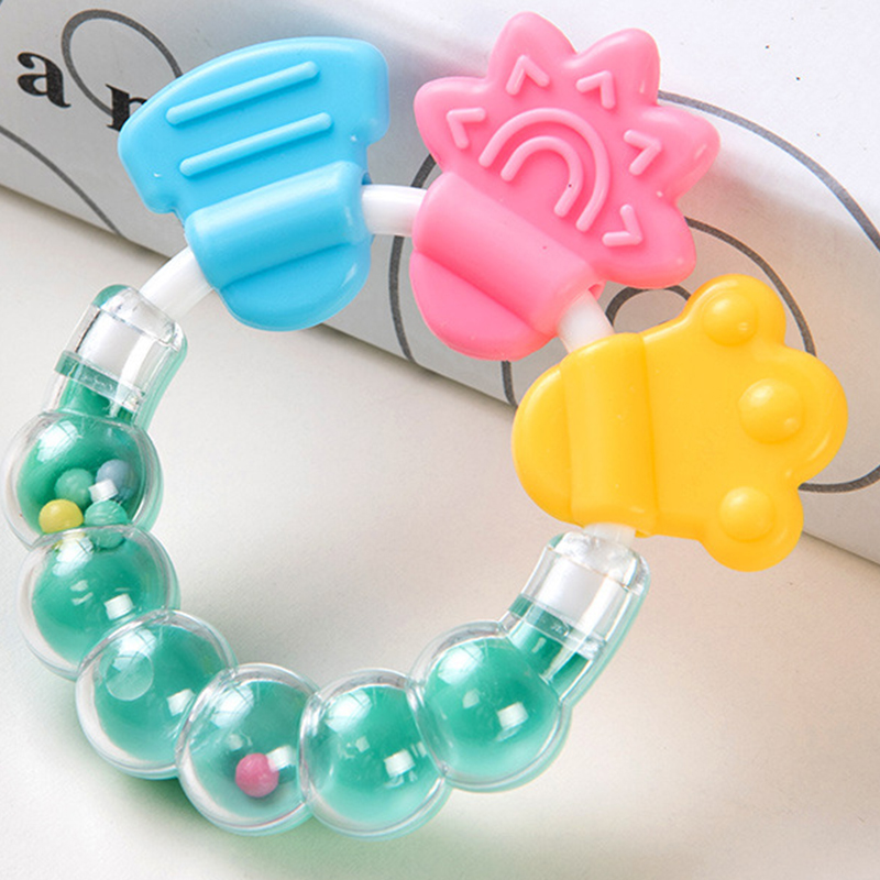 Baby Teether Toys Toddle Safe BPA Free Banana Teething Ring Silicone Chew Dental Care Toothbrush Nursing Beads Gift For Infant