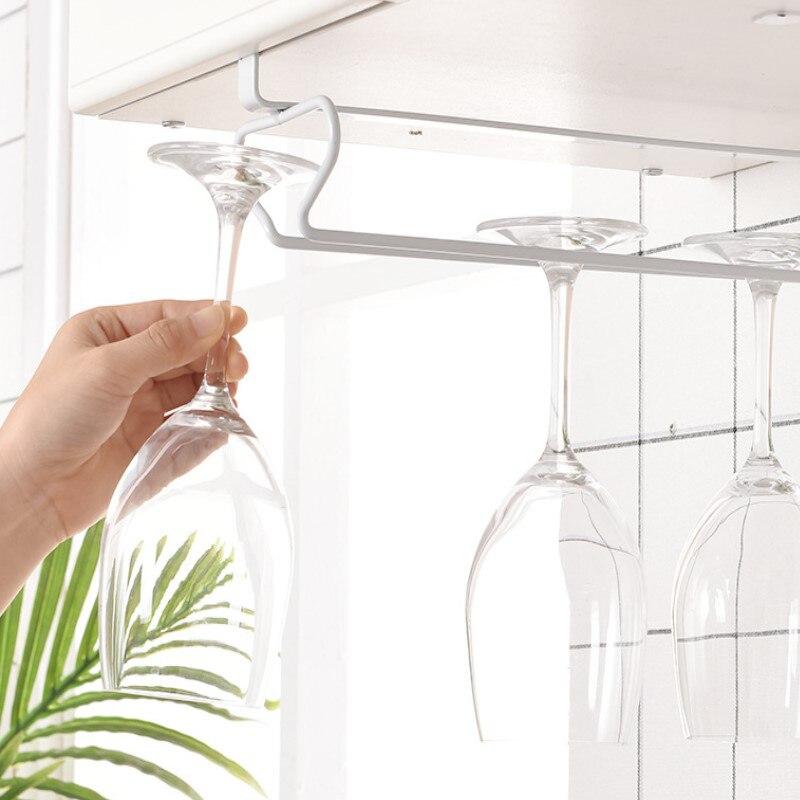 Подвесная посуда, перевернутая полка для хранения, подставка для Винных Бокалов, железная стойка, бокал для шампанского, подставка под шкаф ...