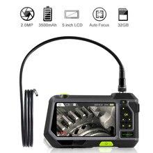 Промышленный эндоскоп 14,5 МП с автофокусом, 1080 мм, камера для осмотра с 5 дюймовым экраном, P HD, Водонепроницаемый Бороскоп с TF картой 32 Гб