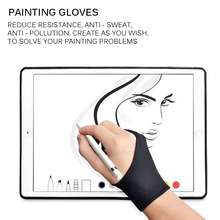 Glove Anti-Fouling Drawing-Tablet Two-Finger Artist for Right And Left Screen-Board